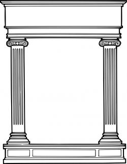 Columns clipart greek border