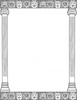 Columns clipart frame