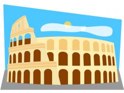 Colosseum clipart cartoon