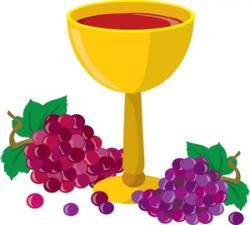 Goblet clipart grape wine