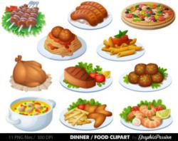 Meatball clipart plate food