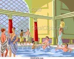 Rome clipart public baths