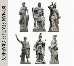 Carvings clipart roman statue