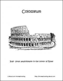 Colosseum clipart wonders the world