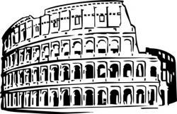 Colosseum clipart roman person
