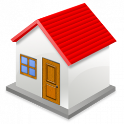 Bungalow clipart red roof