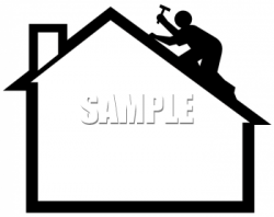 Roof clipart silhouette