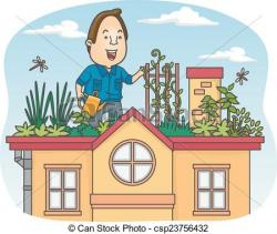 Rooftop clipart cartoon