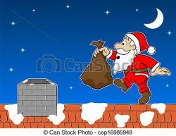 Rooftop clipart christmas