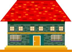 Tiles clipart house roof