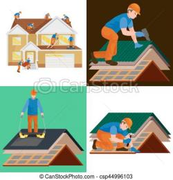 Rooftop clipart house construction