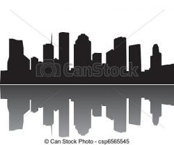 Rooftop clipart houston skyline