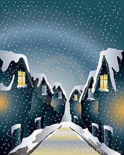 Rooftop clipart snowy