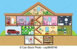 Basement clipart house rooms