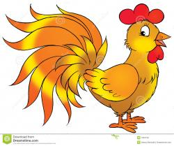Drawn rooster animated