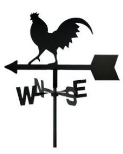 Drawn rooster rooster weathervane