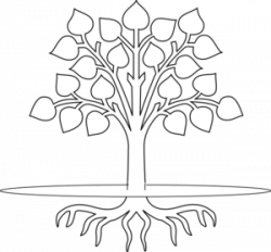 Roots clipart black and white