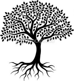 Roots clipart drawn
