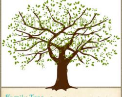 Larger clipart family tree