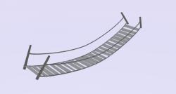 Rope Bridge clipart blender