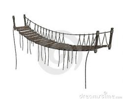 Rope Bridge clipart cartoon