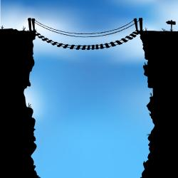 Rope Bridge clipart chasm