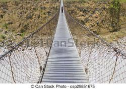 Rope Bridge clipart footbridge