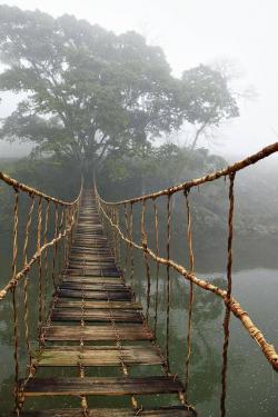 Rope Bridge clipart rickety