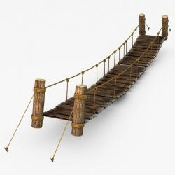 Rope Bridge clipart wood plank