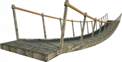 Rope Bridge clipart wood suspension