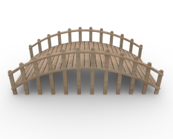 Rope Bridge clipart wooden bridge