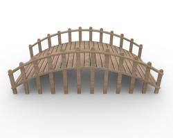 Rope Bridge clipart wooden bridge