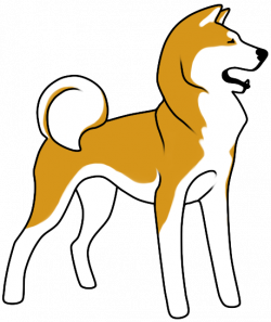 Husky clipart akita