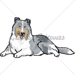 Rough Collie clipart old