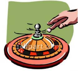 Roulette Wheel clipart cartoon