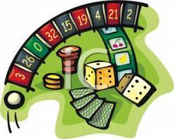 Roulette clipart card