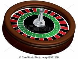 Roulette Wheel clipart printable