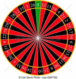 Roulette Wheel clipart vector