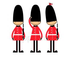 Royal Guards clipart queen england