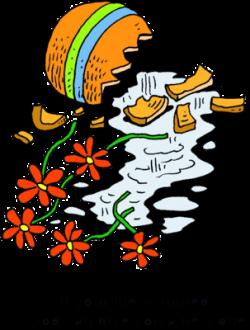 Vase clipart broken flower