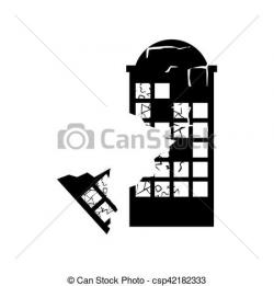 Destruction clipart disaster