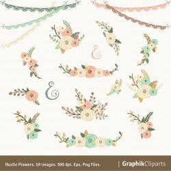 Floral clipart rustic flower
