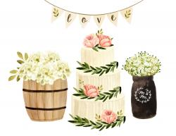 Vase-painting clipart bunting