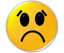 Emotions clipart sad face