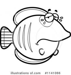 Butterflyfish clipart black and white