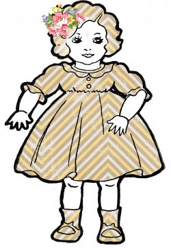 Dall clipart vintage doll