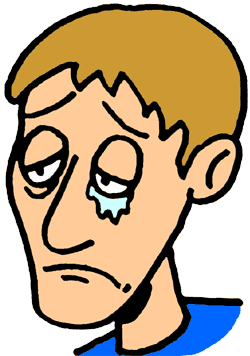 Emotional clipart sad person