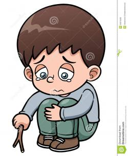 Lonely clipart sad little boy