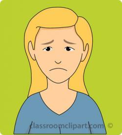 Sadness clipart sad woman