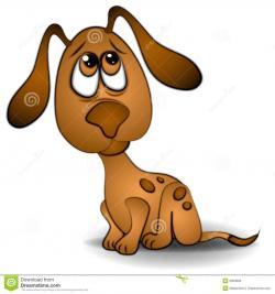 Perro clipart sad dog